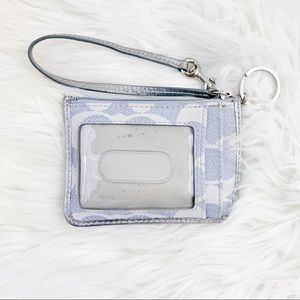 Coach wristlet card key chain wallet holder
